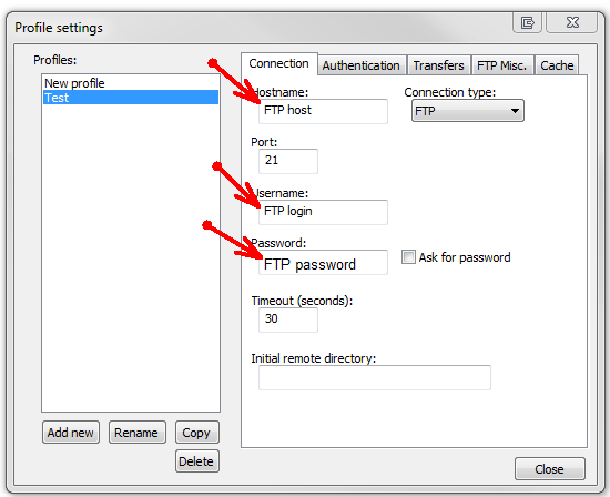 Загрузка файлов на хостинг cuteftp pptp vpn сервер отключается